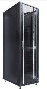 亚搏体育苹果app地址机柜G38142 42U机柜2米带独立双走线槽前后网孔门